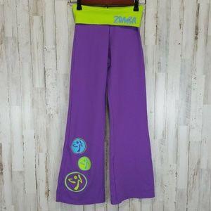 ZUMBA Womens Athletic Pants X Small Purple Green